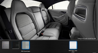 Nội thất Mercedes CLA 200 2017 màu Xám Crystal 368