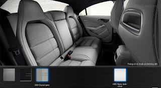 Nội thất Mercedes CLA 200 2018 màu Xám Crystal 368