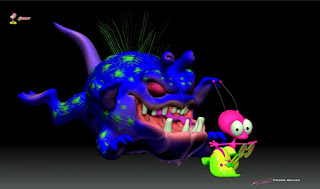 """BLiP""_""Xixax Grog Attack - Orbit & Warp""_Concept/Character design & ZBrush Sculpture ©Pierre Rouzier"