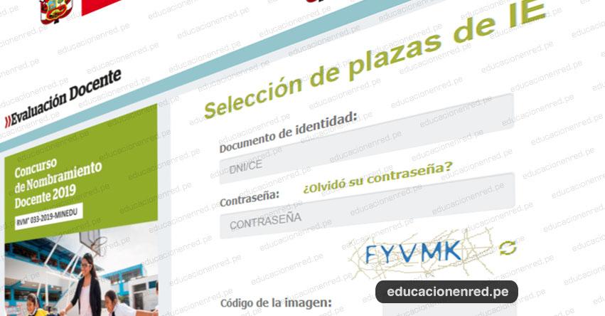 MINEDU: Aplicativo de Selección de Plazas Nombramiento Docente 2019 [7 al 28 Agosto] www.minedu.gob.pe