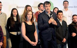 Vidal se mostró con el ministro Esteban Bullrich en un anuncio para estudiantes universitarios
