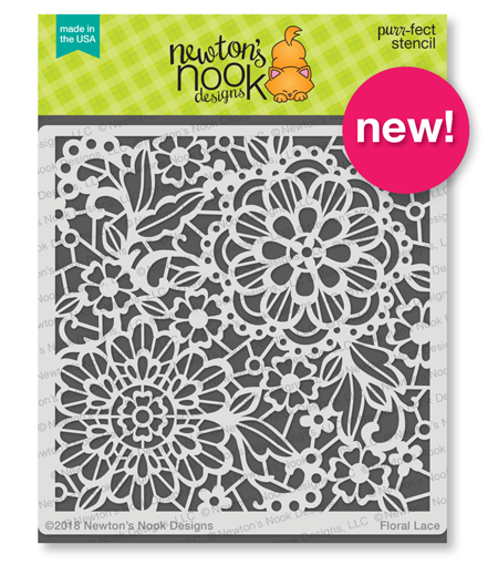 Floral Lace Stencil by Newton's Nook Designs #newtonsnook #handmade