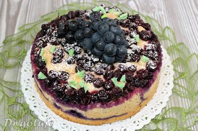 Winogronowe ciasto toskańskie (drożdżówka bez jajek, tłuszczu i nabiału)