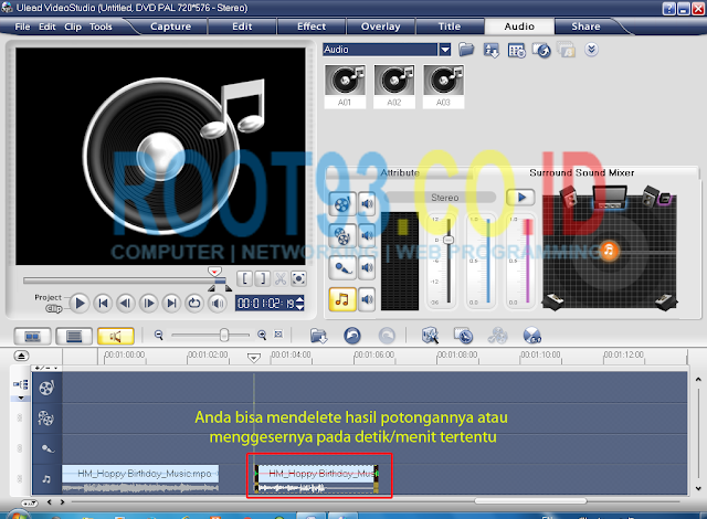 editing audio dengan ulead 5