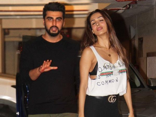 Malika Arora And Arjun Kapoor spotted together in karan johar's diwali party.