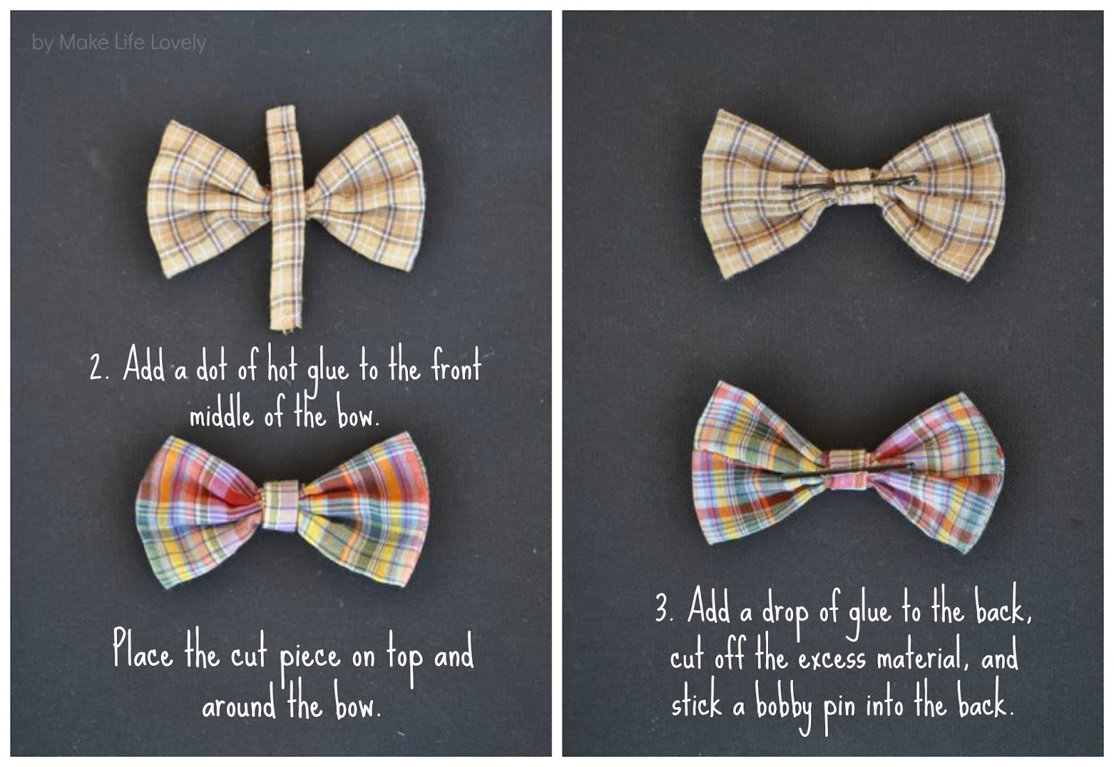 how to make hair bow ties