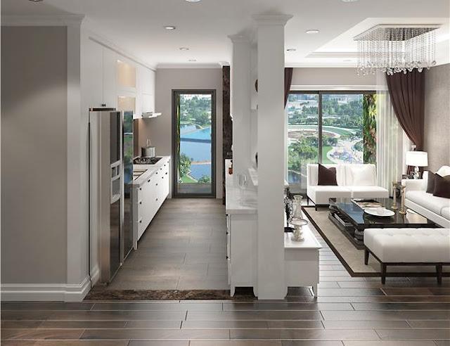 Phòng khách và bếp tách biệt