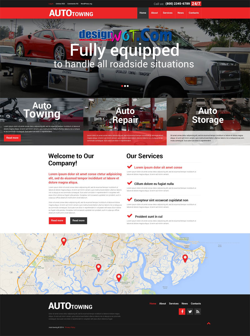 Auto TOWING Responsive WordPress Theme