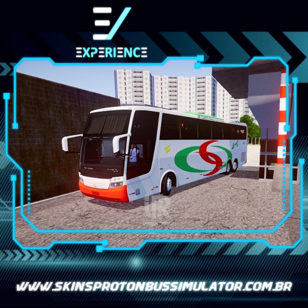 Skin Proton Bus Simulator Road - Jum Buss 380 Scania K380 6X2 ESA - Empresa Santo Antônio