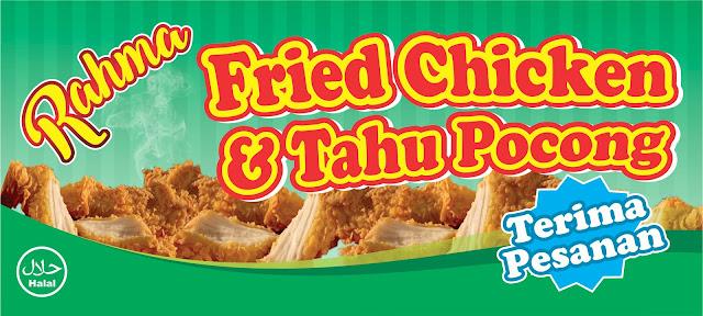 Contoh Desain Spanduk Fried Chicken Tahu Pocong ...