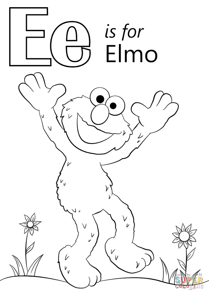 Best Free Elmo Coloring Pages Images