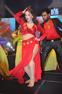 Telugu Actress Angela Krislinzki Spicy Dance Performance in Red Dress at Rogue Audio Launch 13 March 2017  0011.jpg