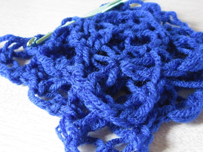 how to, crochet, love knot, gauge