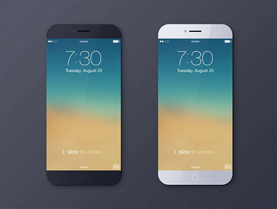 iPhone 6 Black & White PSD Mockup