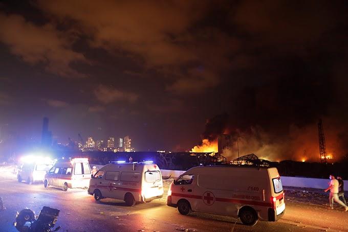 Lebanon explosion rocks capital city Beirut