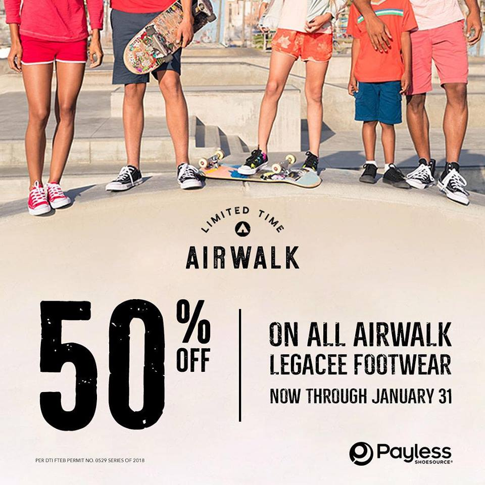 4b4001f33 Payless Shoesource 50% off Airwalk Legacee until January 31 2018 ...