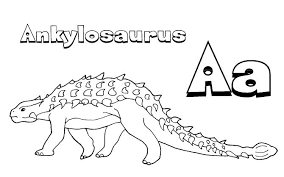 Aa For Ankylosaurus Dinosaur Coloring Pages