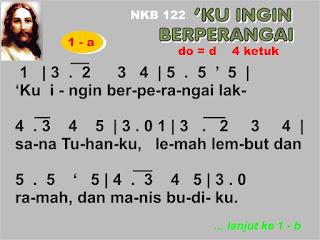 Lirik dan Not NKB 122 'Ku Ingin Berperangai
