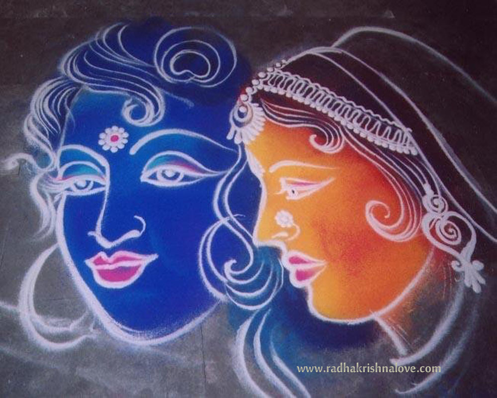 Radha Krishna Diwali Rangoli