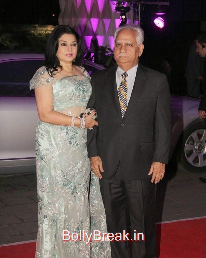 Kiran Juneja, Ramesh Sippy, Rekha, Neetu Singh, Ahana Deol, Kiran Juneja At Sonakshi Sinha's Brother Kush Sinha Wedding Reception