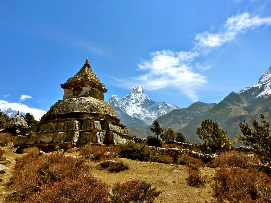 View on Ama Dablam along the way to Pangboche - My 25 Photos Of The Everest Base Camp Trek