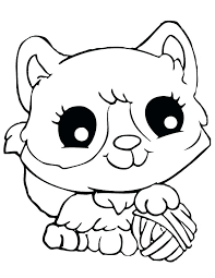 Cute Kitty Cats Coloring Pages Animals Online