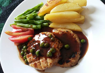 resep steak tempe saus teriyaki