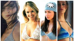 Patrones de Bikinis para tejer al crochet / 4 modelos
