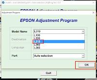 Epson L310 Resetter