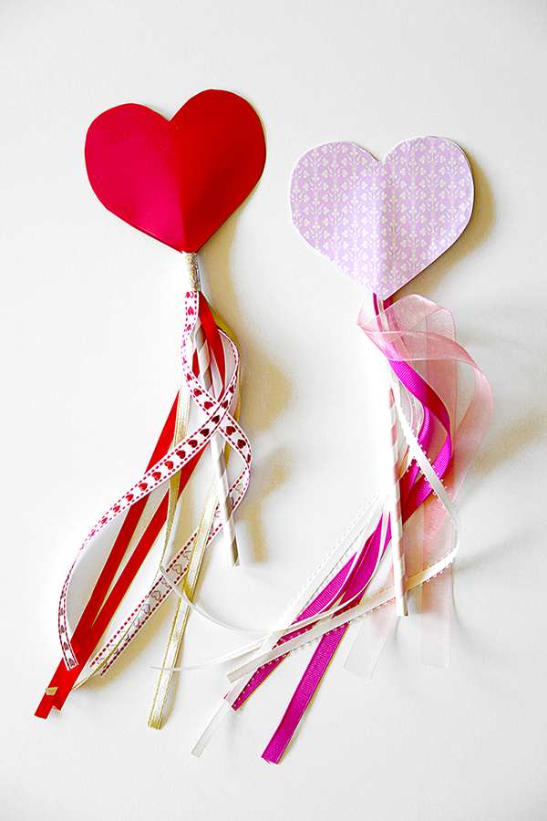 Valentine's Day Heart Wands
