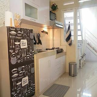 dapur minimalis halaman belakang