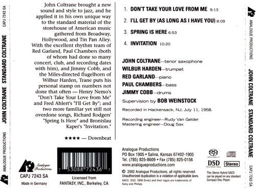 O pbis da rosa john coltrane standard coltrane 1962 prestige 4 invitation 1022 written by b kaper credits bass paul chambers drums jimmy cobb piano red garland tenor saxophone john coltrane stopboris Gallery
