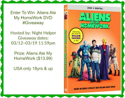 Enter the Aliens Ate My HomeWork DVD #Giveaway. Ends  3/19