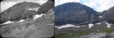 comparación glaciar de los Gabietos