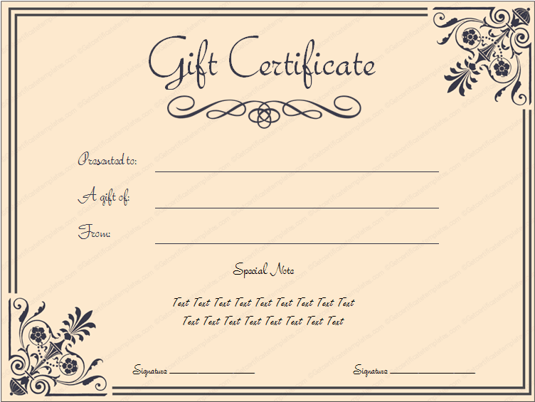 Pin Templates: 6 Business Gift Certificate Templates to ...