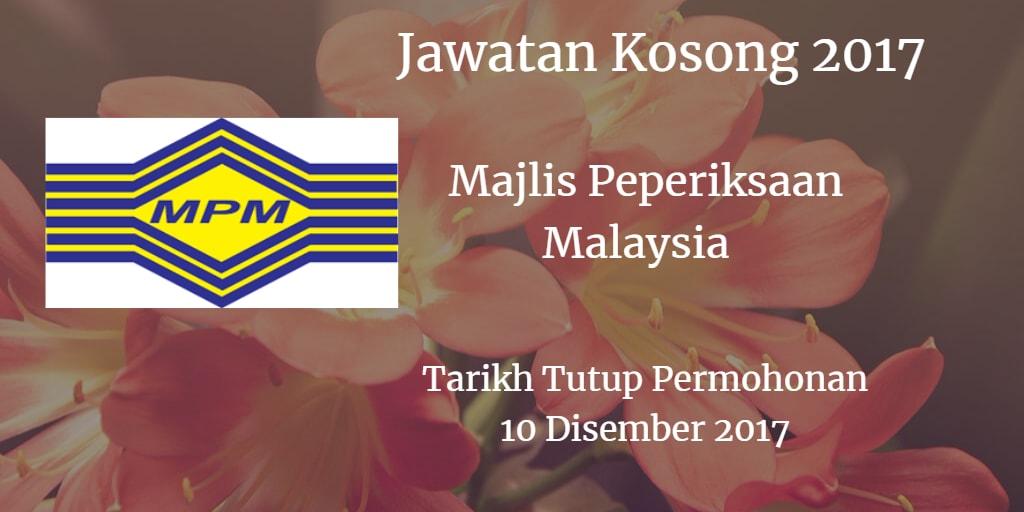 Jawatan Kosong MPM 10 Disember 2017