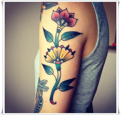 tattoos of roses and flowers for men