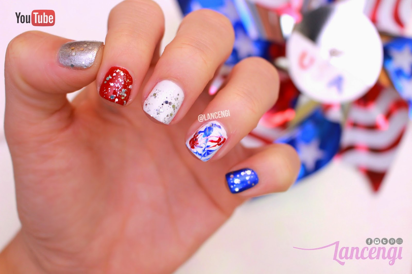 LancenGi: Easy Nail Art for Short Nails - Firework ...