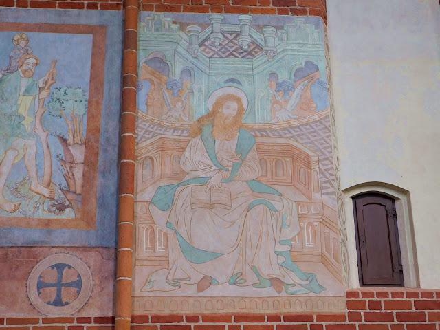 święty, żywoty świętych, ściana, malowidła, polichromie