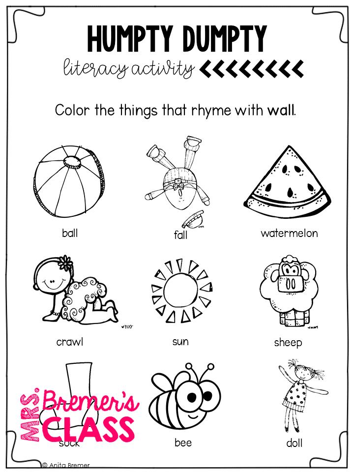 Mrs. Bremer's Class: Nursery Rhymes and Nursery Rhyme
