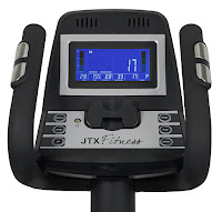 Tilt console for best viewing angle on JTX Tri-Fit Cross Trainer