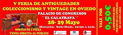 Entrada a la V feria de antigüedades y coleccionismo en Oviedo 2016