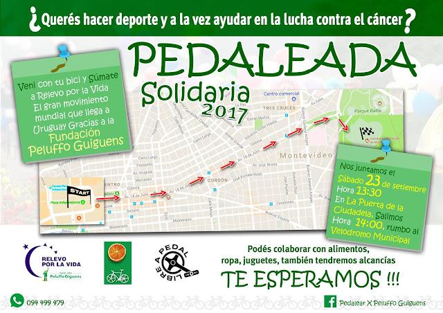 Bicicleteada - Pedalear por Peluffo Giguens (sáb 23/sep/2017)