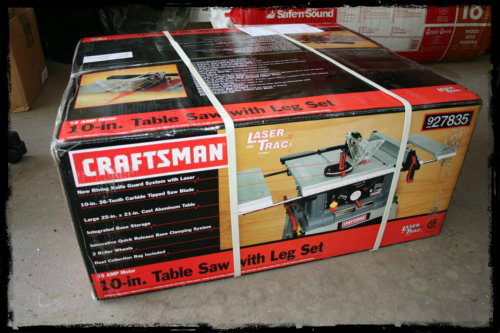 Table Saw Packaging
