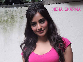 Neha Sharma in pink color T-shirt wallpapers