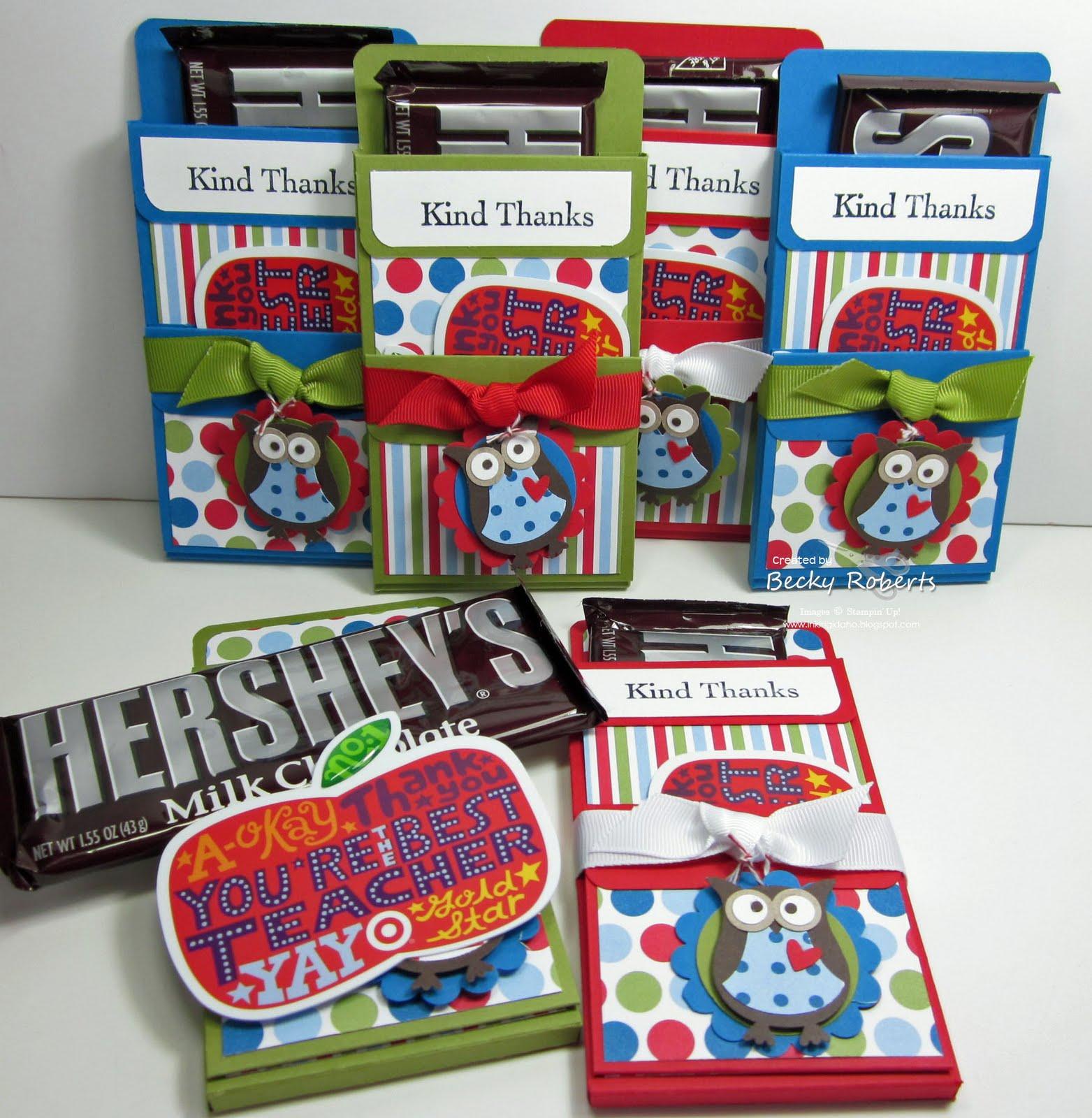 inking idaho hershey bar gift holders