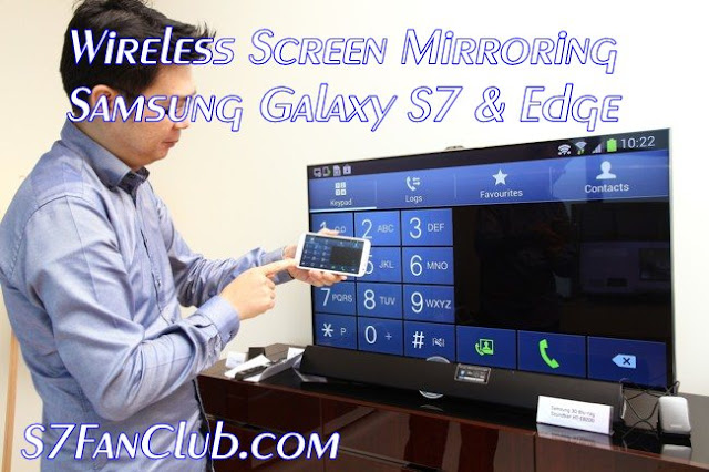 Wireless Screen Mirror HDMI Adapter All Share Cast Hub Galaxy S7 & Edge