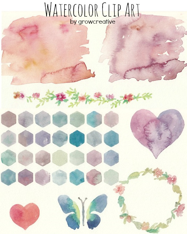 watercolor flower clipart free - photo #45