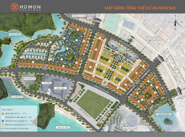 Mặt bằng tổng thể toàn dự án MON BAY Hạ Long