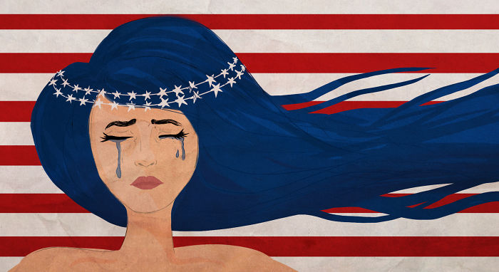 15+ Cartoonists Around The World Illustrate How They Feel About Trump Becoming President - The American Cry - Akshita Monga/ Arré